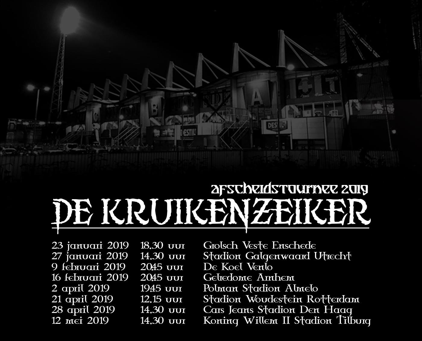 De Kruikenzeiker Afscheidstournee 2019!